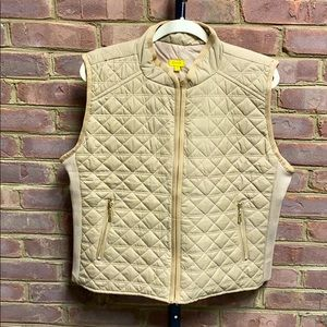 Daisy Champaign Quilted Vest Size 1X